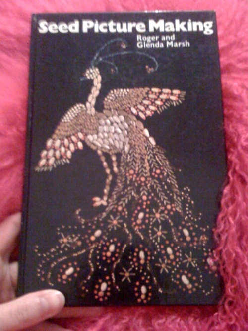 The wonderful peacock on the front cover. How very elegant.