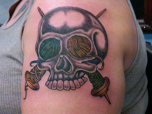 Knitting Related Tattoos : Everyone loves a good knitting tattoo make and do with