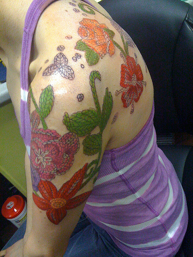 Knitting Tattoo Images : Everyone loves a good knitting tattoo make and do with