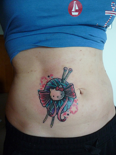 Knitting Related Tattoos : Hello kitty knitting tattoo wow make and do with perri