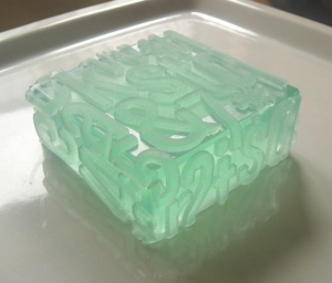 soap that looks like typography