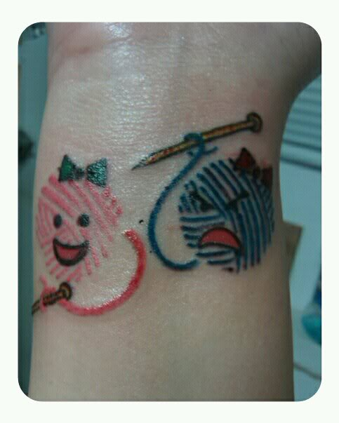 I heart knitting tattoos part ii make and do with perri for Ink craft tattoo