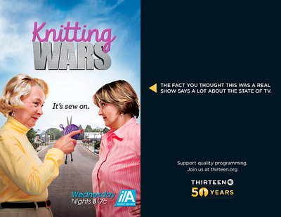 Knitting Wars fake TV banner from PBS