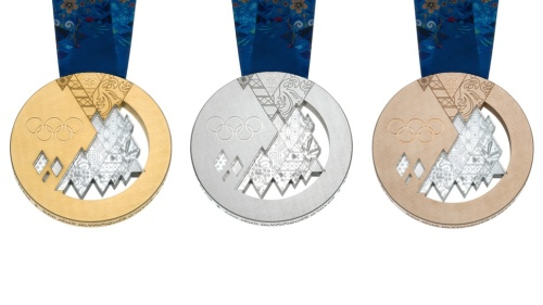 Winter Olympics 2014 patchwork medals