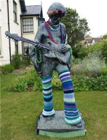 Hendrix yarn bombed