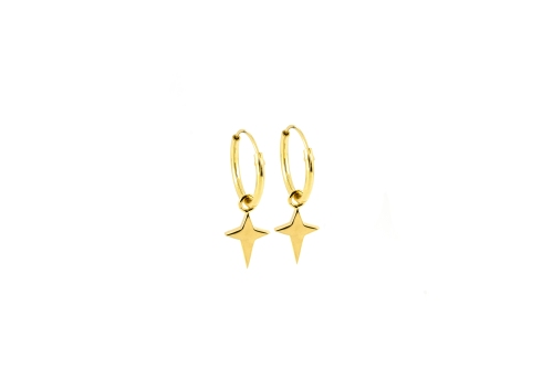 Dreamy Star Hoops 18ct gold plated silver