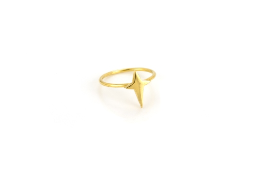Dreamy Star Ring 18ct Gold Plated Silver